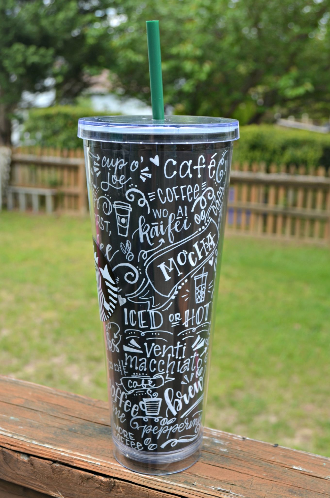Chalk Lettering Coffee Cup