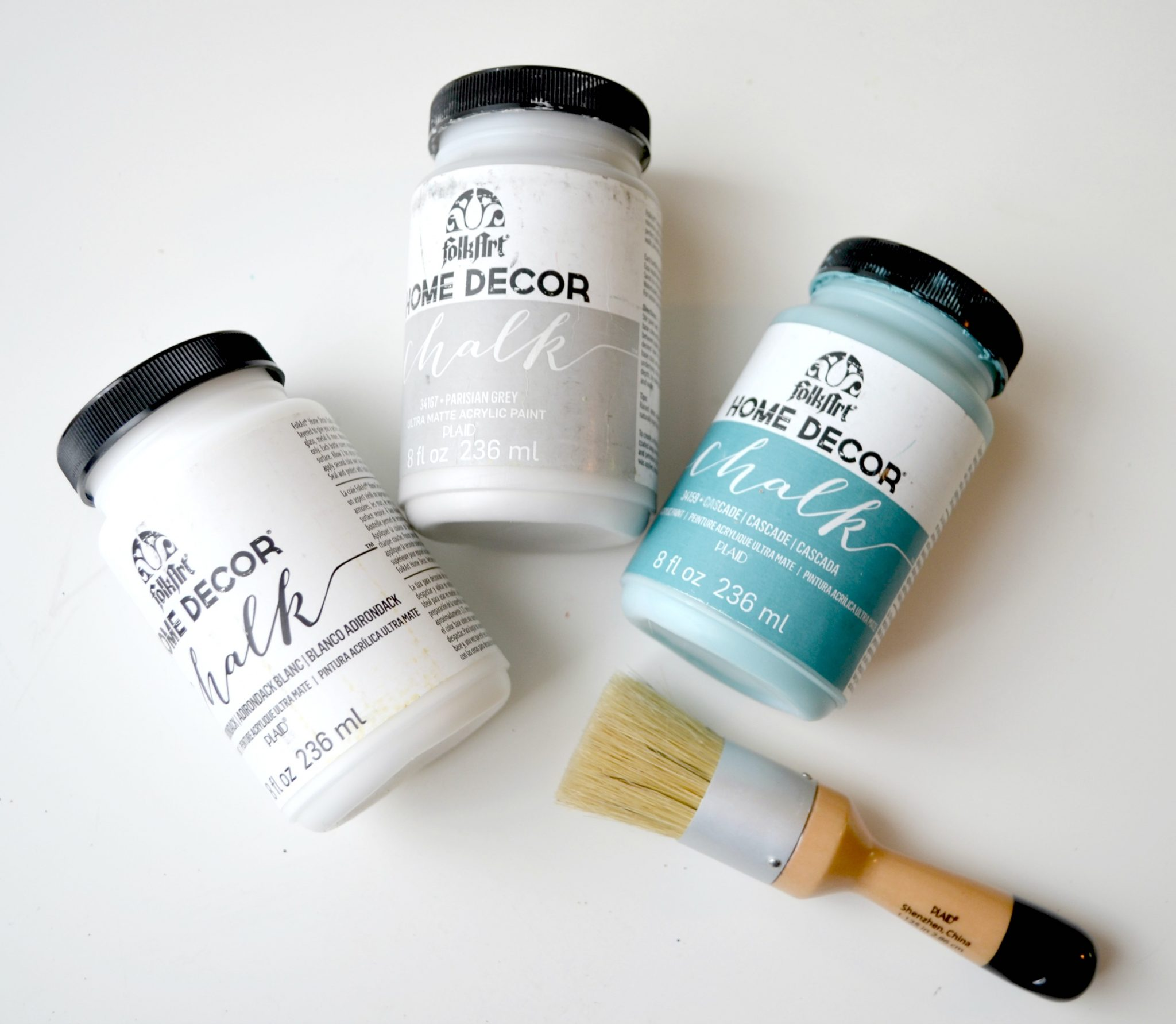 The FolkArt Home Decor Chalk Brush Is Made Specifically To Work Well With  This Paint, And Comes In Two Sizes, So You Can Choose The One That Best  Fits Your ...