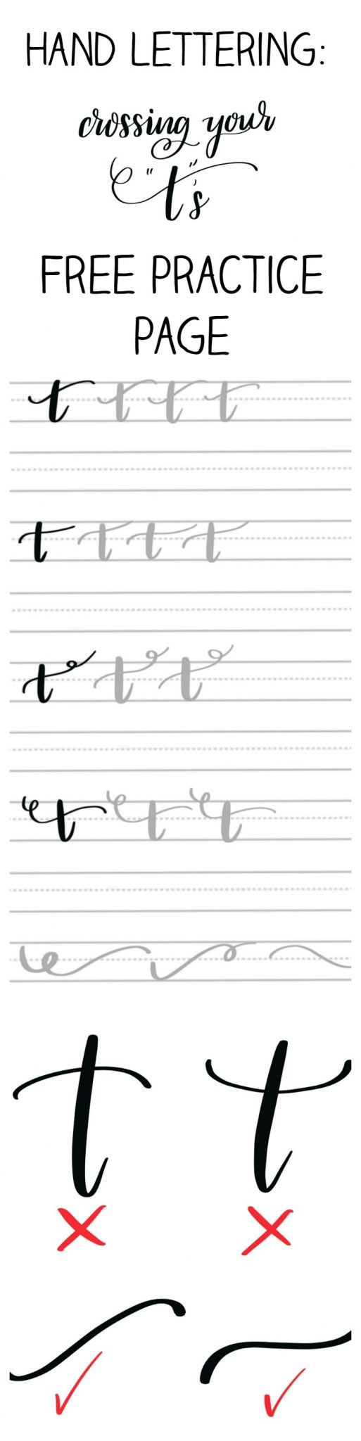 Hand Lettering: Flourishes and Practice Page