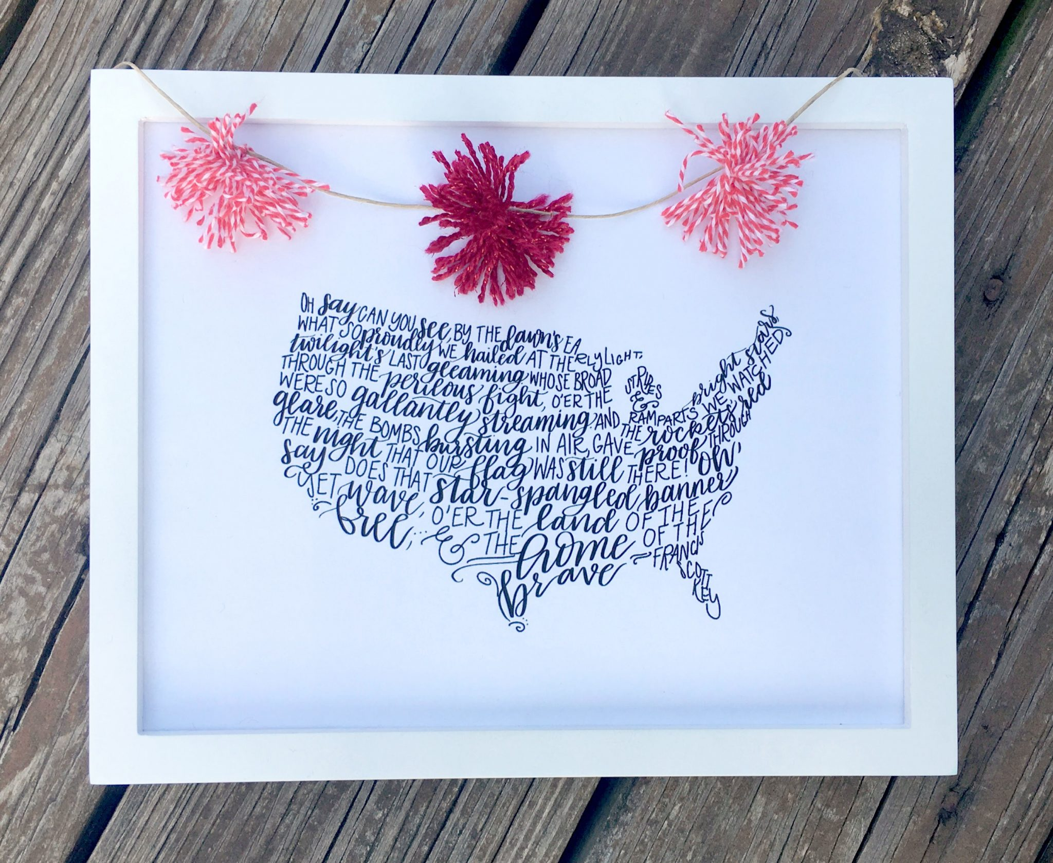 Patriotic Hand Lettered Printable