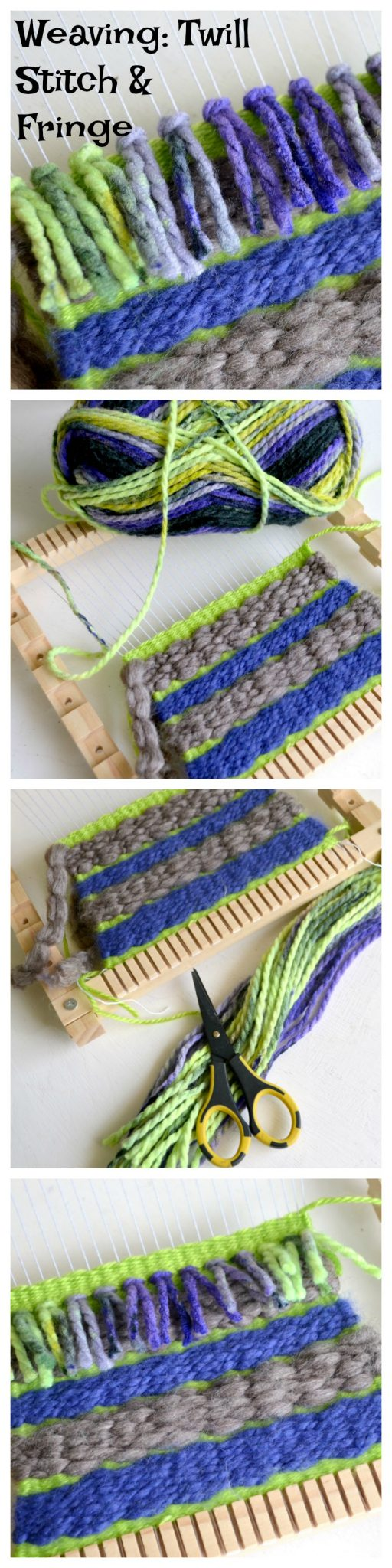 Weaving: Twill Stitch and Fringe