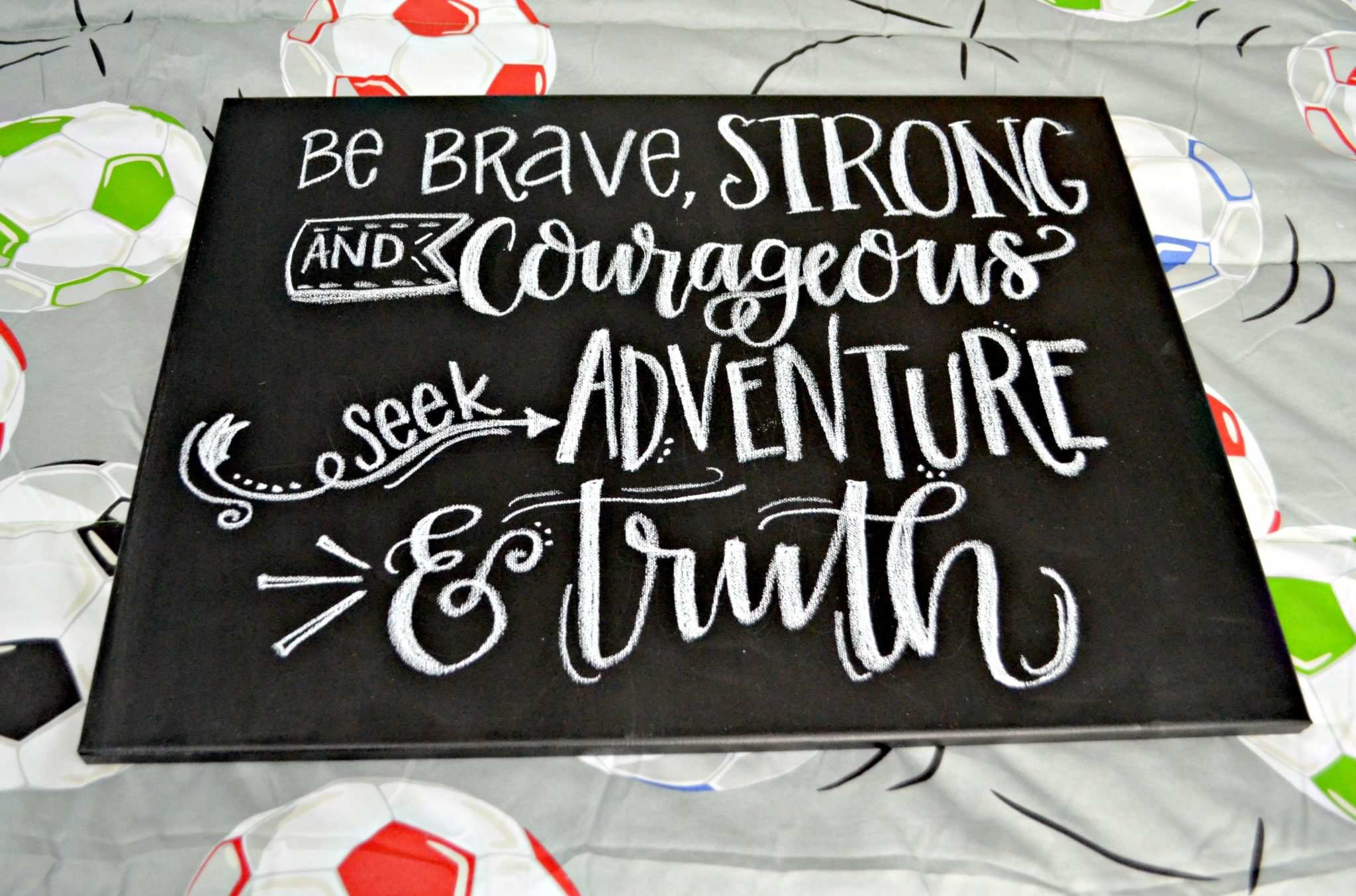 "Lettered ""Be Brave"" Wall Art"