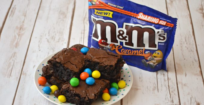 Salted Caramel Mocha Brownies with M&M'S® Caramel