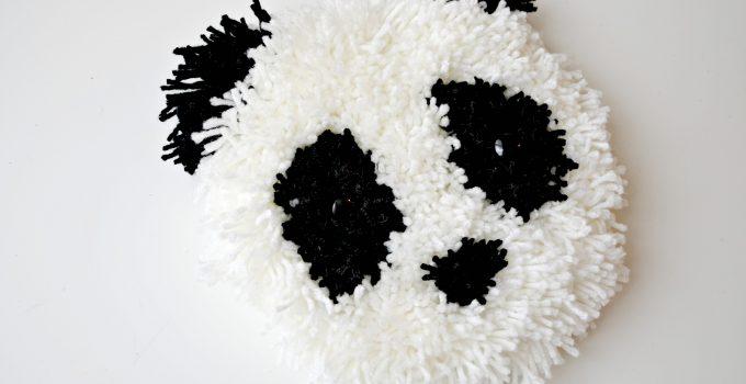 Panda Wall Hanging with Bucilla RyaTie