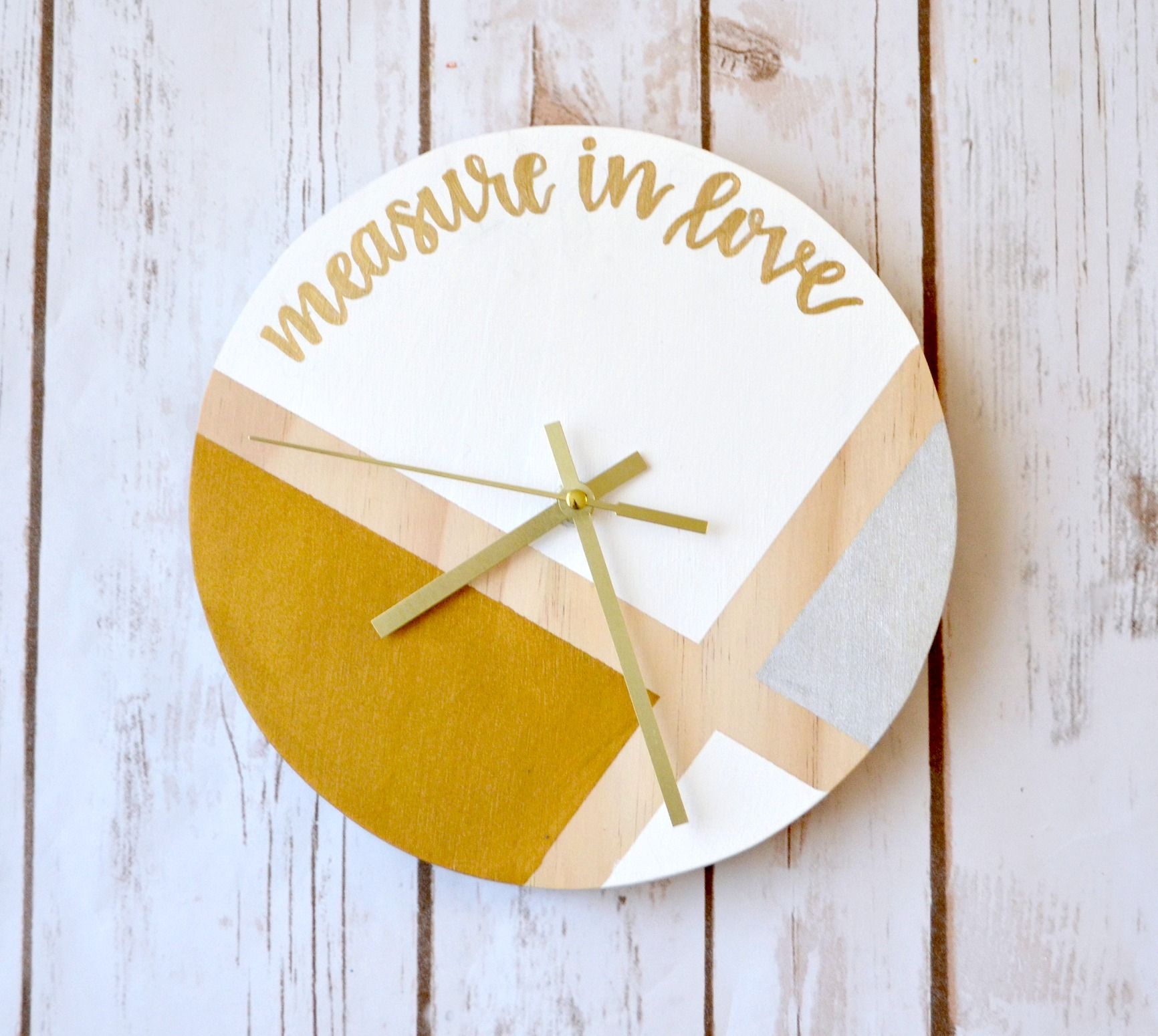 Hand Lettered Clock