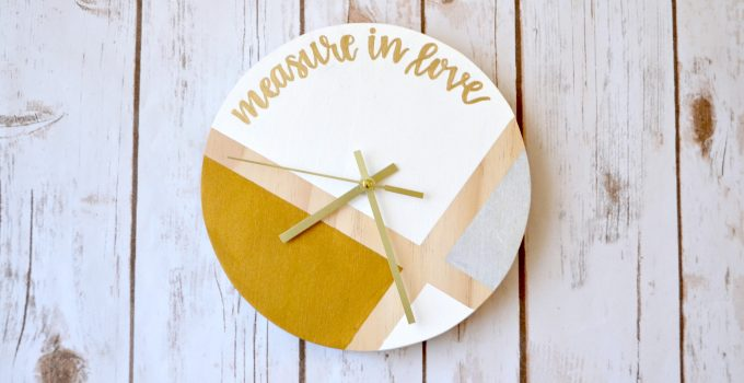 Hand Lettered Color Blocked Clock