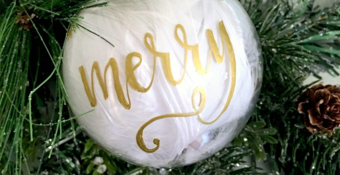 Easy DIY Hand Lettered Christmas Ornament