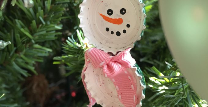 Bottlecap Snowman Ornaments: Video Tutorial