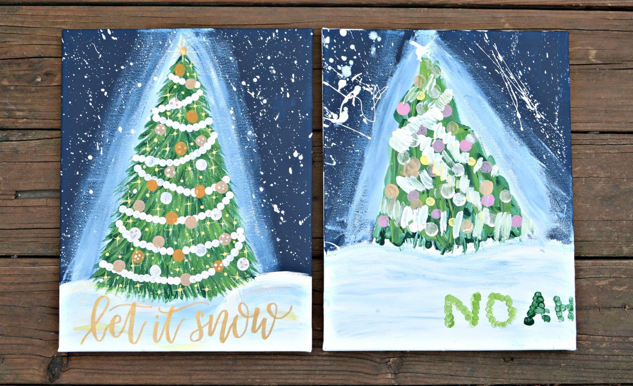 Holiday magic canvas painting amy latta creations for youcreate this holiday magic canvas painting its easier than you think and you can create it with your kids your friends or all by yourself solutioingenieria Gallery