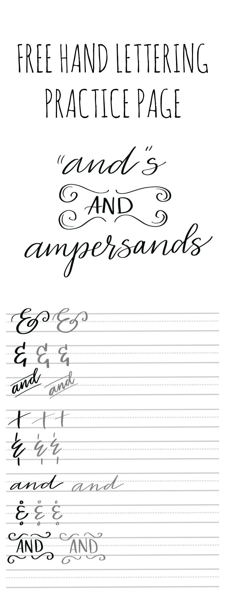 Hand Lettering Practice: Ampersands