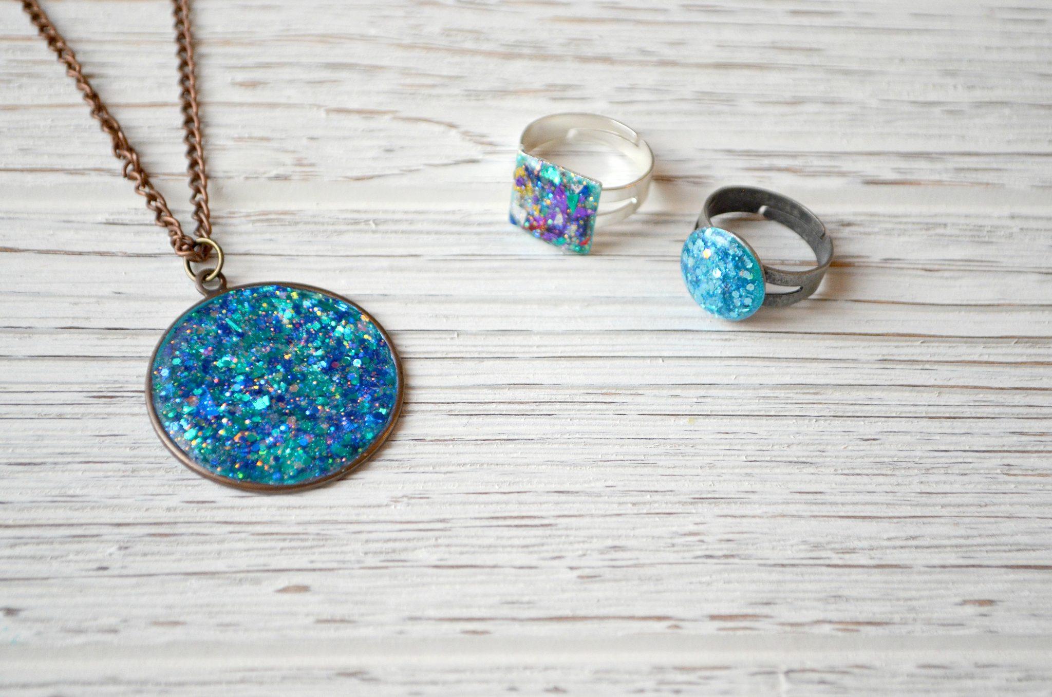 Faux Druzy Jewelry with FolkArt Glitterific