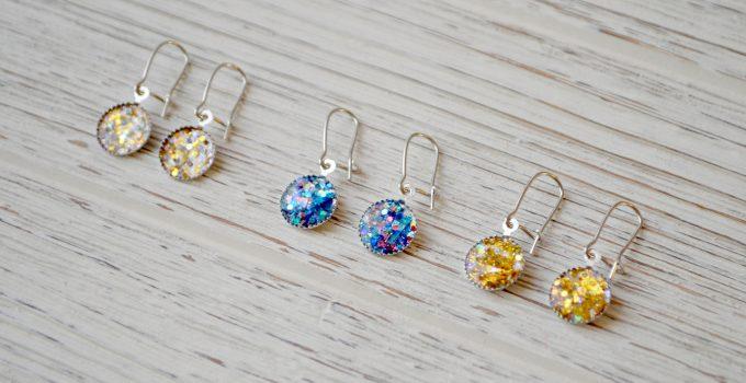 DIY Sparkle Earrings with FolkArt Glitterific