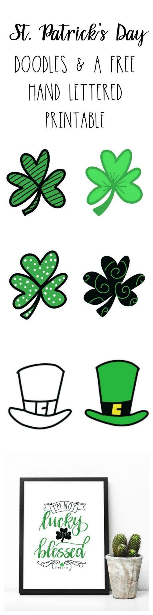 St. Patrick's Day Doodles & Printable