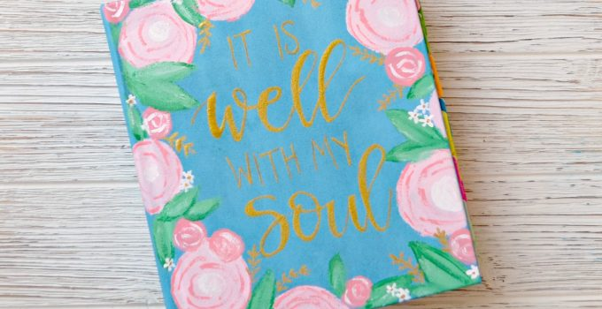 Painted Bible Cover