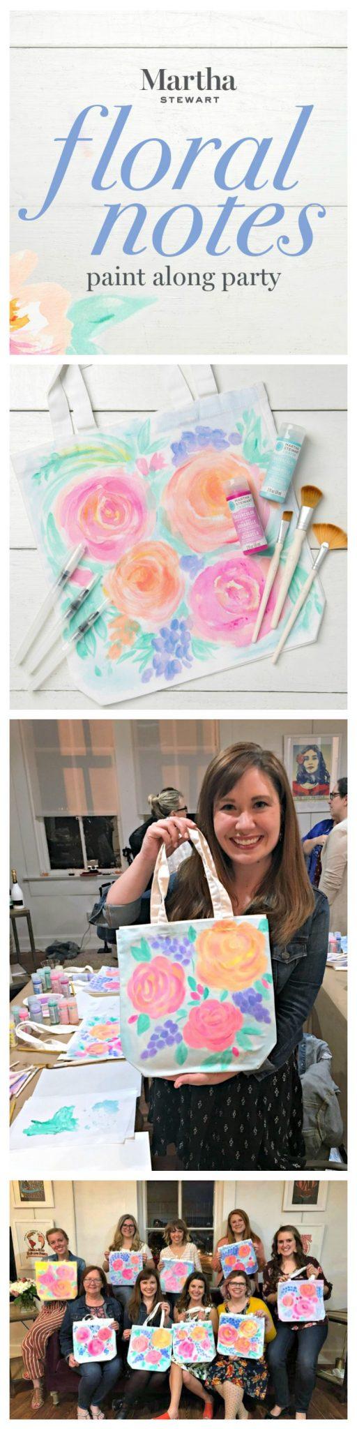 Floral Tote Bag Paint Party