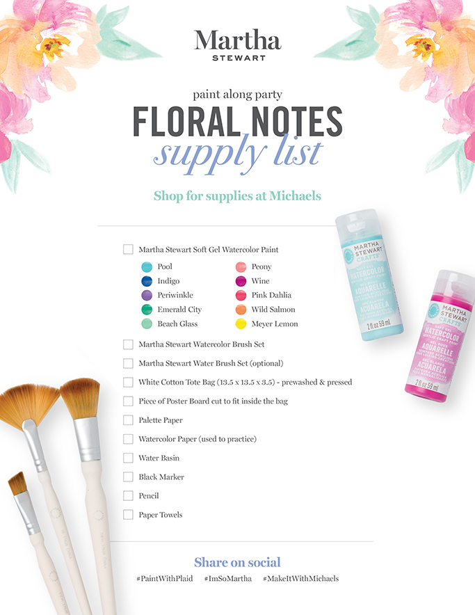 Paint Party Supply List