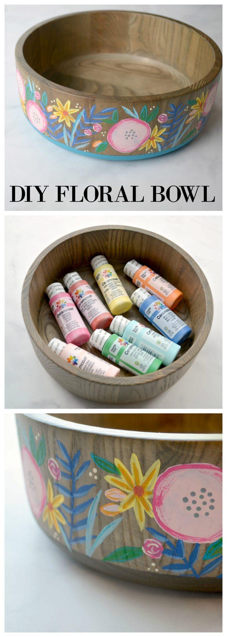 DIY Floral Bowl with Delta Paint