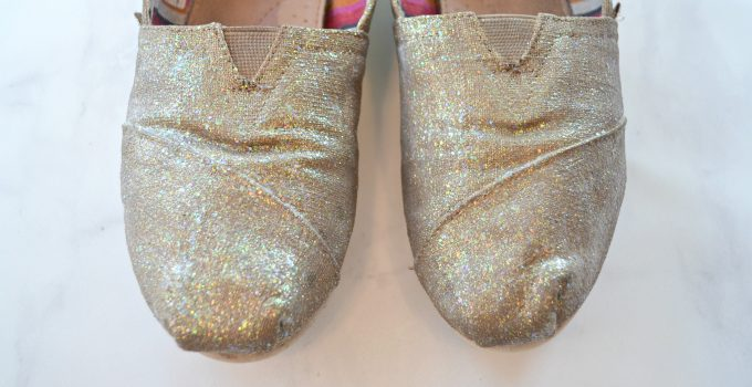 DIY Glittered Shoes: A Fabric Creations Fairytale