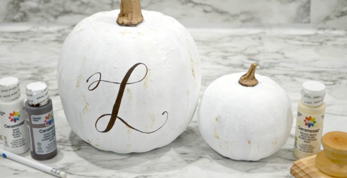 Shabby Chic Hand Lettered Pumpkins