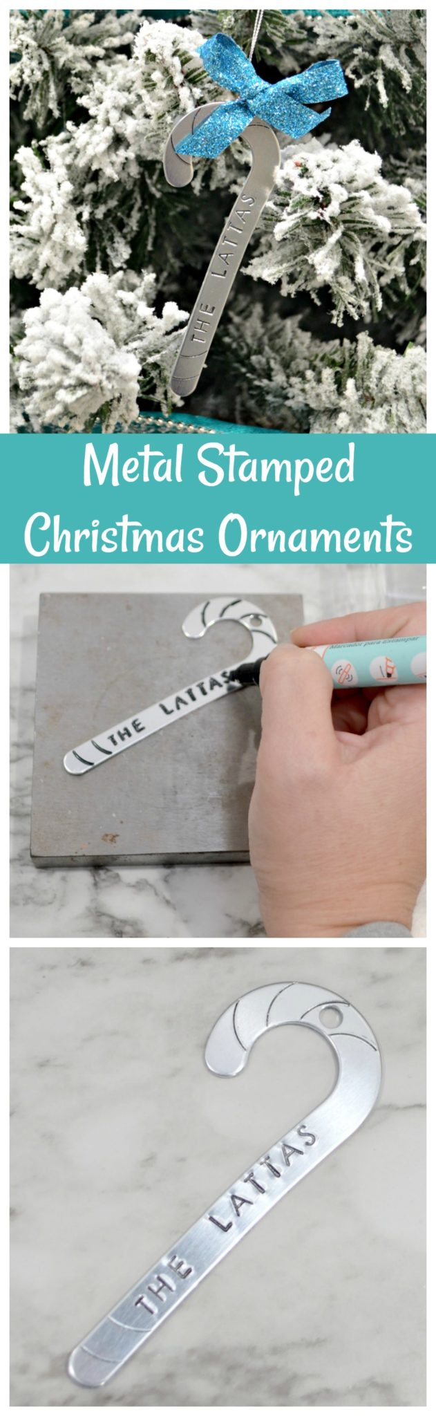 Metal Stamped Christmas Ornaments