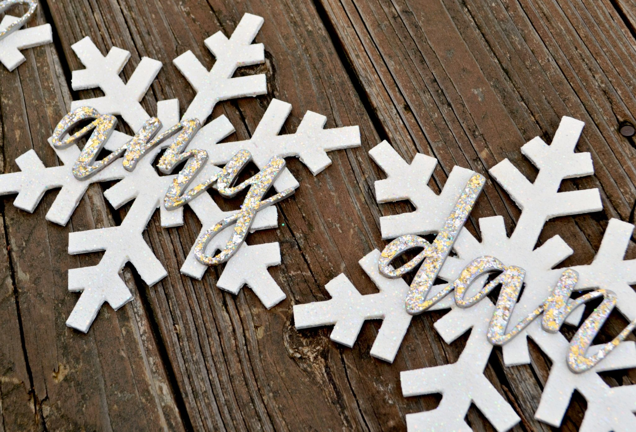 personalized snowflake name kits from craft cuts amy latta creations