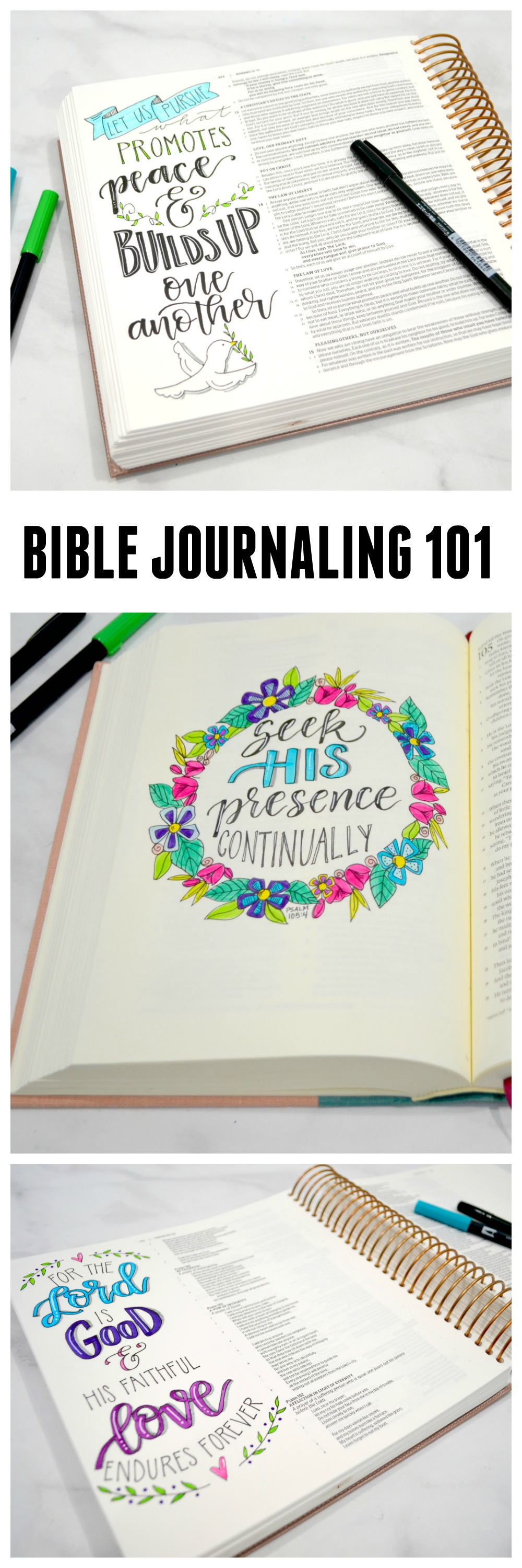 Getting Started with Bible Journaling #biblejournaling